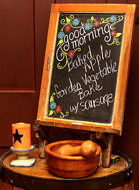 photo of a chalk menu for breakfast