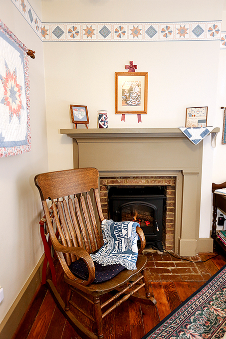 Quilt room Fireplace.