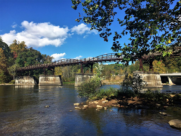 Photo of bridge in Ohiopyle.