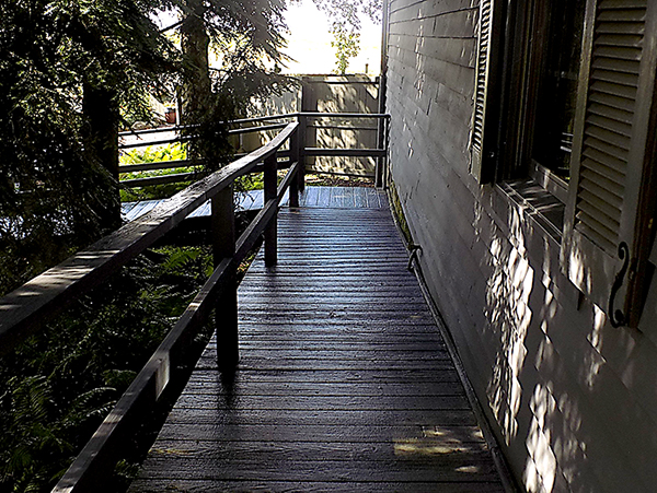 Ramp to Harvest House.