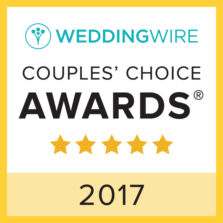 Wedding wire couples award.