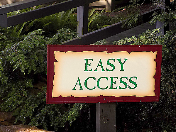 Harvest House easy access sign.