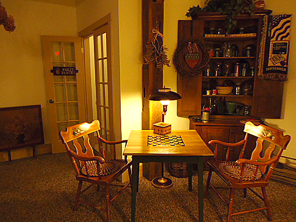 Gathering room Harvest House Chess board.